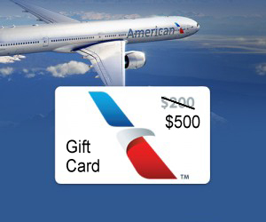 Free $500 in American Airlines Gift Cards